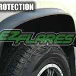 EZ Flares XL Universal Black Flexible Rubber Fender Flares Made in USA 4X4..PG4