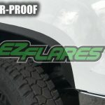 EZ Flares XL Universal Black Flexible Rubber Fender Flares Made in USA 4X4..PG6